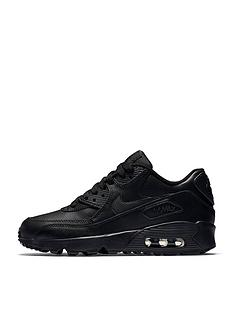 4dcc68afc7b0 Nike Junior Air Max 90 Leather - Black