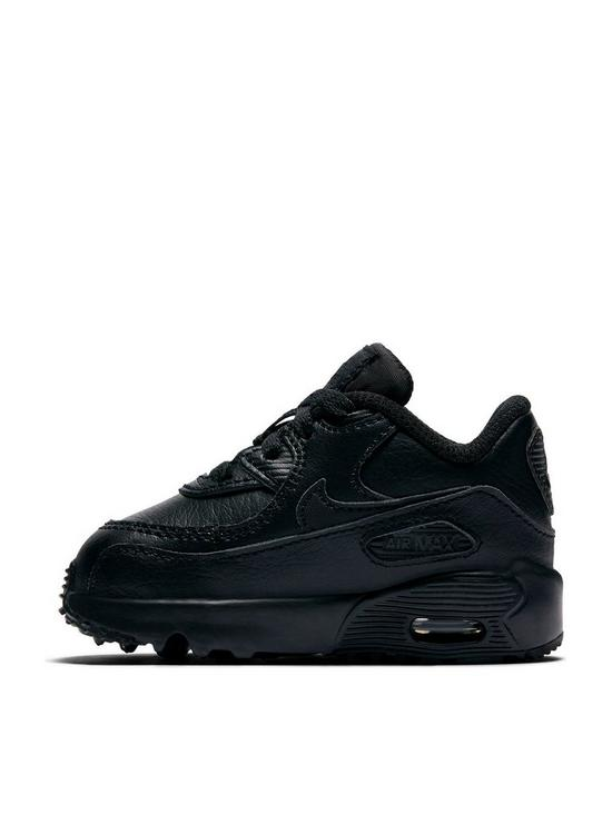 best sneakers 58ed0 76d4e Air Max 90 Leather Infant Trainers - Black