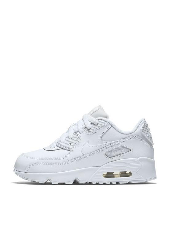1620e1151a1 Nike Childrens Air Max 90 Leather - White