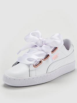 Puma Basket Heart Leather Trainer - White