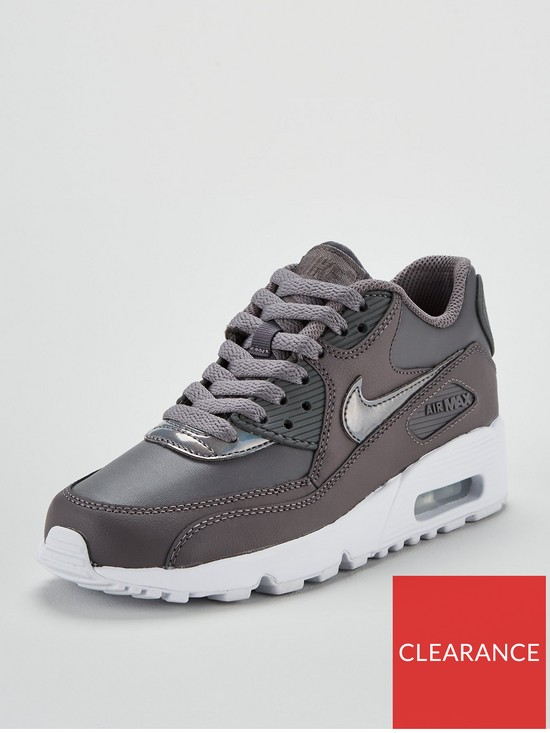 best authentic f359f d5227 Nike Air Max 90 Ltr Junior - Grey White