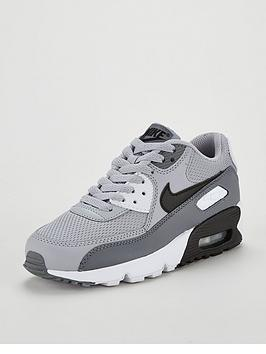 nike-air-max-90-mesh-junior-trainer-greyblacknbsp