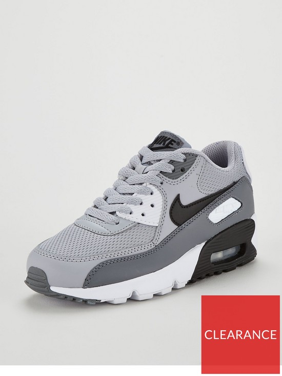 sneakers for cheap 25ad5 fea6a Nike Air Max 90 Mesh Junior Trainer - Grey Black