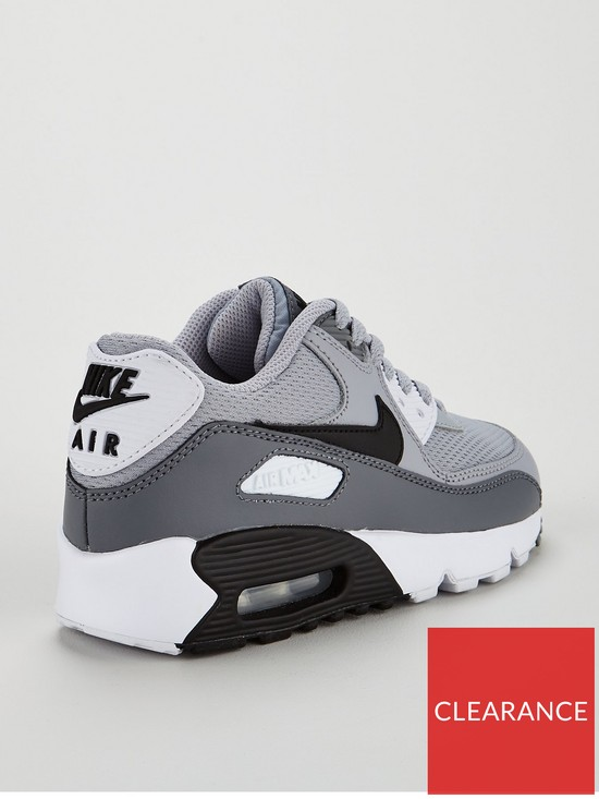 check out 5ca29 efff7 ... Nike Air Max 90 Mesh Junior Trainer - Grey Black. View larger