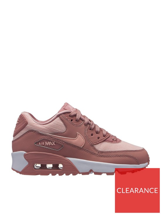 new product 8f492 d8339 Nike Air Max 90 Mesh Se Junior Trainer - Pink White