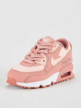nike-air-max-90-mesh-senbspchildrens-trainers-pink