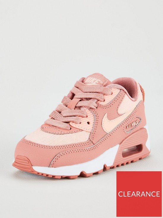Nike Air Max 90 Mesh SE Childrens Trainers - Pink  a6506e4f3