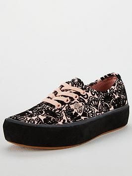Vans Authentic Paisley Suede Platform - Pink/Black