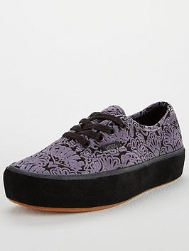 Vans Authentic Paisley Suede Platform