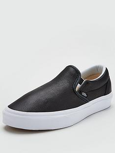 vans-classic-leather-slip-on-black