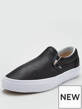 vans-classic-leather-slip-on-black