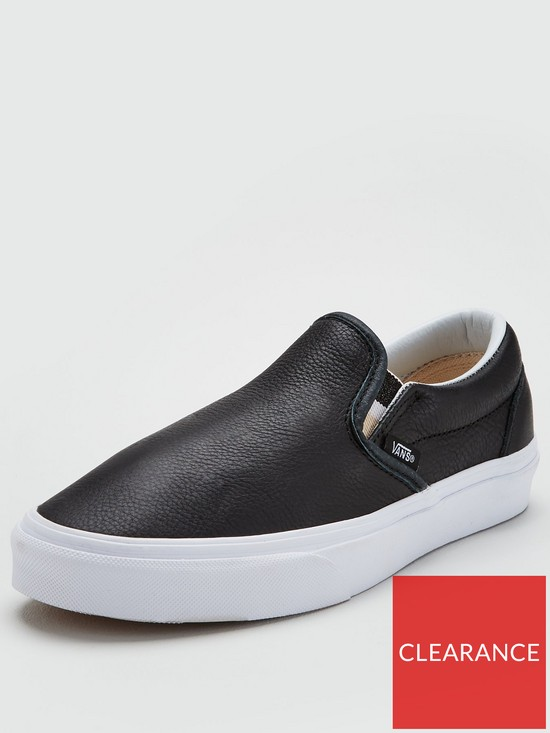 62901ecb3f5b Vans Classic Leather Slip On - Black