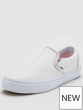 vans-classic-leather-slipnbspon-white