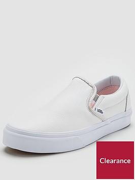 vans-classic-leather-slipnbspon-white