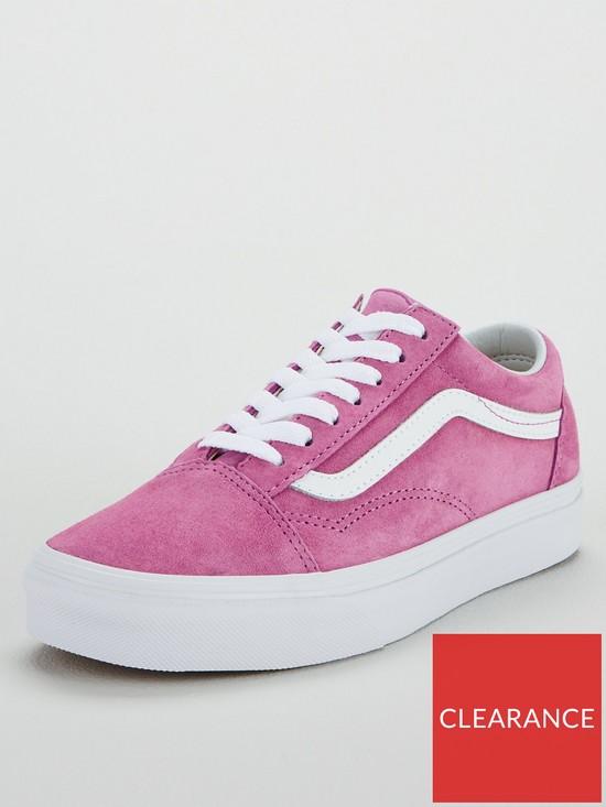 f468dcbc27 Vans Suede Old Skool - Pink White