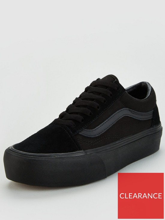 3d0bc74120a5 Vans Old Skool Platform - Black | very.co.uk
