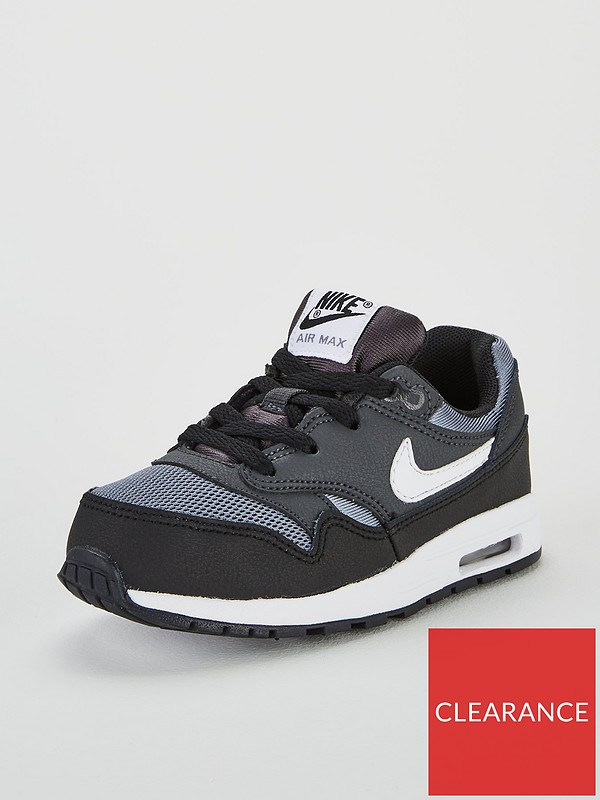 Air Max 1 Infant Trainers BlackGrey