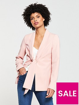 v-by-very-tie-detail-blazer-blush