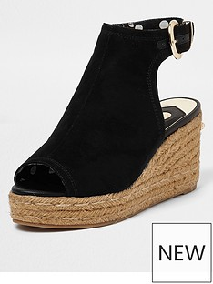 river-island-river-island-faux-suede-espadrille-wedge--black