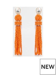 river-island-river-island-seedbead-drop-earrings--orange