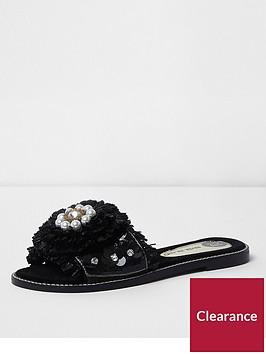 river-island-flower-bead-sandal--black