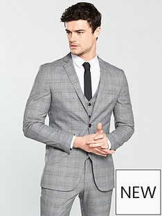 v-by-very-subtle-grey-check-slim-jacket