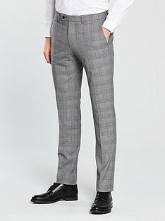 v-by-very-slim-checked-suit-trouser-grey