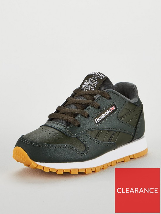 a2c8d04045bc0 Reebok Classic Leather Infant Trainer