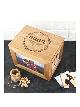 personalised-oak-photo-cube