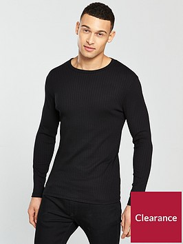 river-island-8x3-ls-muscle-fit-ribbed-tshirt