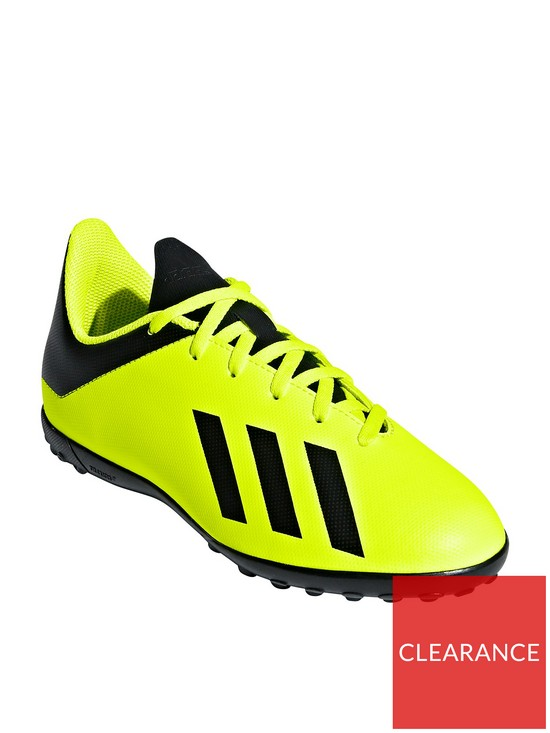 7880c5b8c adidas Junior X 18.4 Astro Turf Football Boots - Volt Black