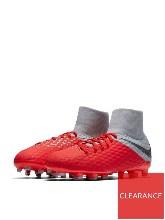 48264c0d8c8 Nike Junior Hypervenom Phantom III Dynamic Fit Academy Firm Ground Football  Boots - Dark Grey Red