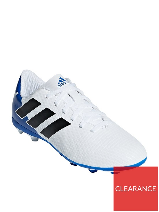 online store 2159f f794d adidas Junior Nemeziz Messi 18.4 Firm Ground Football Boots - WhiteBlue