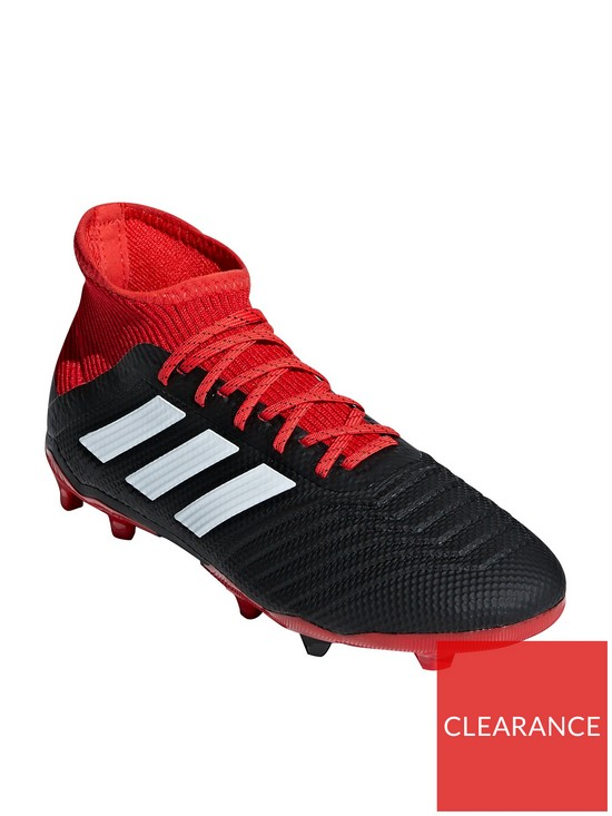 quality design 02e78 55441 adidas Junior Predator 18.3 Firm Ground Football Boots - Red Black