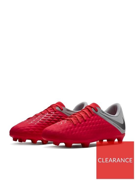 c6aac026c Nike Junior Hypervenom Phantom 3 Club Firm-ground Football Boot - Grey Red