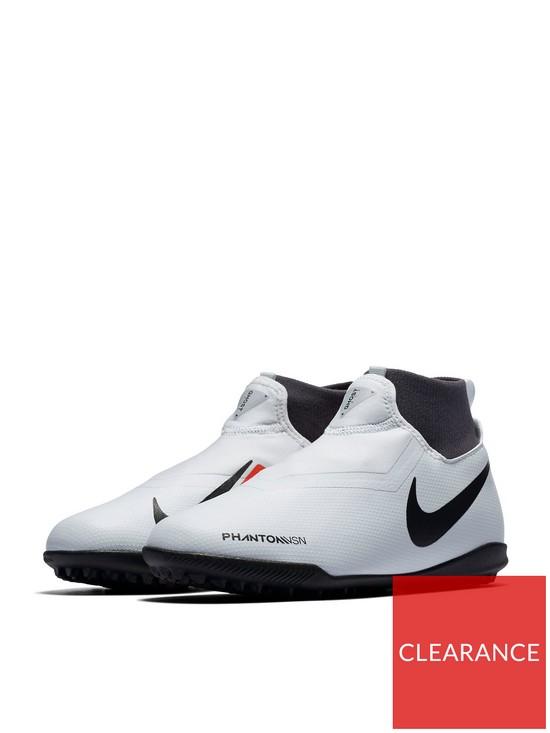 8b1db449c Nike Junior Phantom Vision Academy Dynamic Fit Astro Turf Football Boot -  Grey