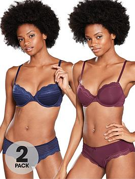 dorina-ida-t-shirt-bra-2-pack-bluered