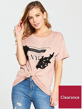 v-by-very-petite-petite-lace-trim-slogan-t-shirt-blushnbsp