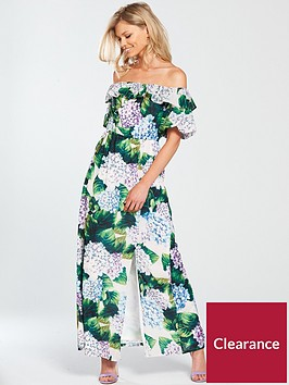 v-by-very-petite-bardot-ruffle-maxi-dress-printednbsp
