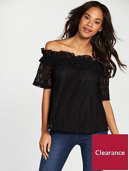 v-by-very-bardot-lace-top-black