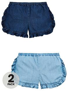 mini-v-by-very-girls-2-pack-tencel-ruffle-shorts