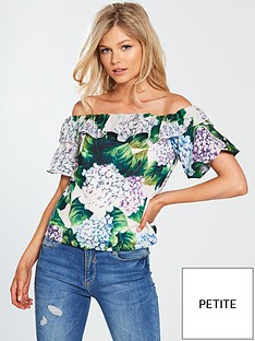 v-by-very-petite-bardot-ruffle-blouse-printed