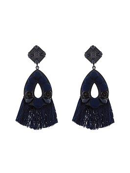 v-by-very-aria-mixed-media-tassel-earrings-blue