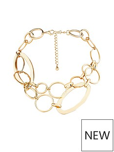 v-by-very-alicia-double-row-link-necklace-gold