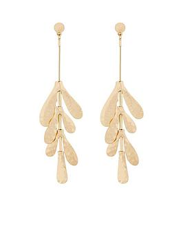 v-by-very-abigail-hammered-metal-drop-earrings
