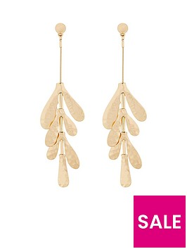 v-by-very-abigail-hammered-metal-drop-earrings