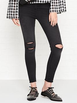 J Brand Alana High Rise Distressed Cropped Skinny Jeans - Nevermore