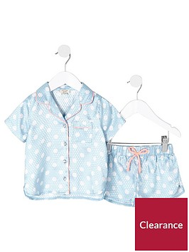 river-island-mini-girls-blue-polka-dot-pyjama-set