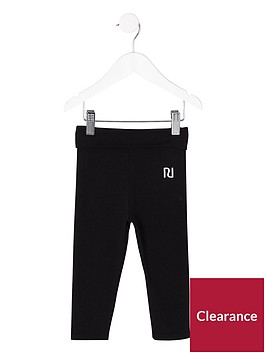 river-island-mini-girls-black-folded-waistband-leggings