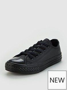 converse-chuck-taylor-all-star-junior-leather-ox-trainers-black